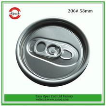 Easy Open End Beverage Aluminum Can Lid 206# SOT