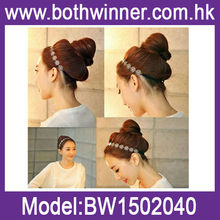 Rose flower hair bungee bands BW026
