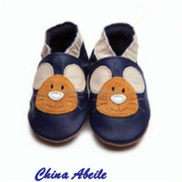 Wholesale Autumn Newest Kids Manmade Anti slip Children Shoes For baby animal shaped babies slippers moccasins
