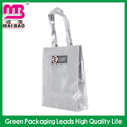 glamour design printed pp handle non woven bag