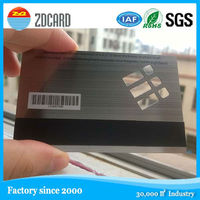 high quality cheap price manufacturer elegant embossed silver metal card with magnetic stripe