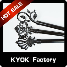 KYOK Black iron curtain rod finals & extendable cutain rods, window decoration accessories for Middle Asia market