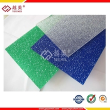 clear and colored unbreakable uv coated soundproof polycarbonate embossed sheet