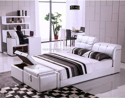 J-337-1 Modern leather Bed Storage bed