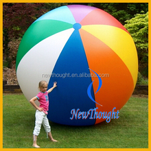 8 colors big size giant wholesale PVC giant inflatable beach ball