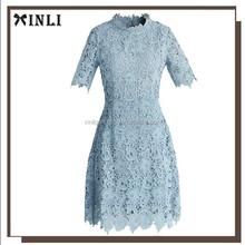 Divine Lace Open-back Design Girls Lace Evening Dress