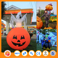 Newest design best popular inflatable halloween decoration halloween large plastic pumpkins
