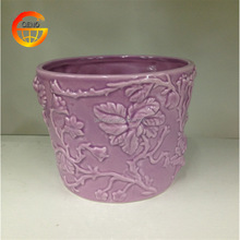 Beautiful relief work ceramic planters for sale
