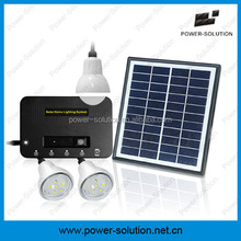 DC solar panel system with 3lamps, USB charger, 5.2Ah li-ion battery