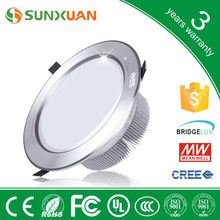 Made in china ip44 12w dimmable led downlight, 3 years warranty led recessed downlight, 5 inch high power down light