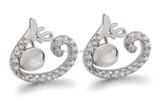 Promotional Round 3A zircon stud earrings