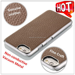 Top Quality Genuine leather phone case for iphone 6