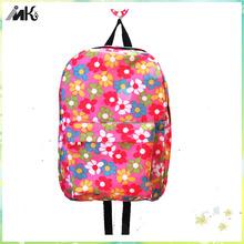 Cute Backpack flower bag, pink flowers School Backpack, Floral Print Canvas Backpack hanging flower bags