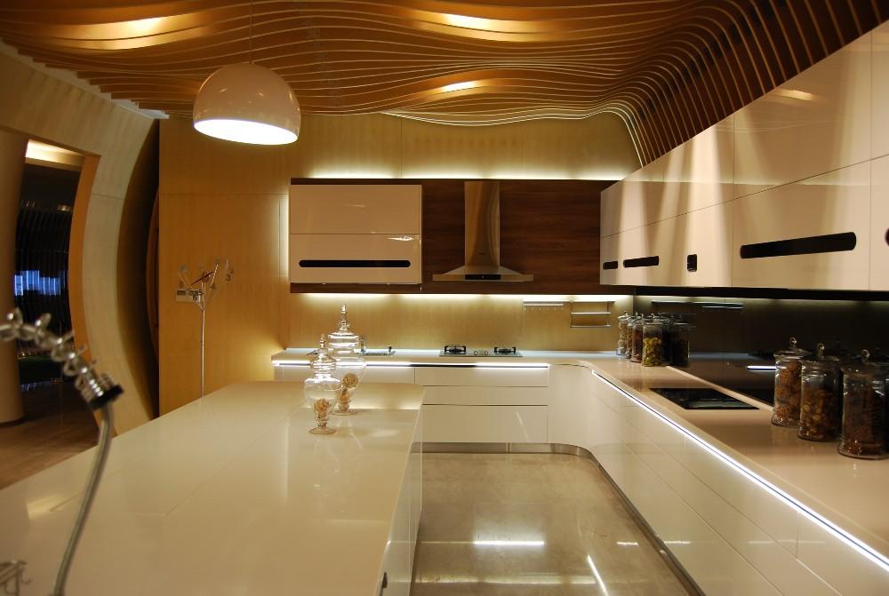 De haute technologie cuisine armoires forme ronde for Technologie cuisine