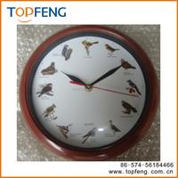 on time alarm wall clock hourly clock bird singing chirping hanging clock
