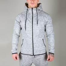 mens slub interlock zip pocket stretch tracksuit
