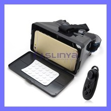 2 In 1 Google Virtual Reality 3D Glasses + Blutooth Controller For Smartphone Game Movie