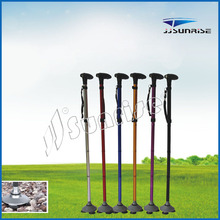 Adjustable Folding Foldable Walking Stick for old people with flashlight