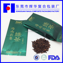 New fashion china wholesale bellow packaging 12g chinese green tea health benefits bag