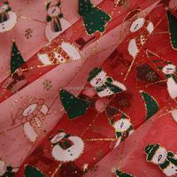 Christmas decoration supplies christmas tree pumpkin snow man glitter organza fabric