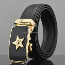 Shenzhen good quality belt star buckle leather belts with changeable buckles