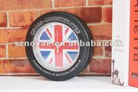 SH-199 Especial Style Country Flag Tire Wall Clock