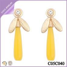 pendientes simples para mujeres aretes largos de moda
