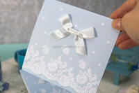 2015 Hot sale Pure & Fresh Embossed Flowers Wedding Invitation