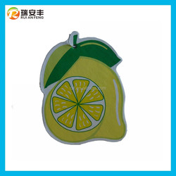 Apple fragrance paper air freshener, lemon smell car air fresheners, aroma air freshener paper type gel