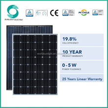 Factory price mono silicon 260-280w solar panel for air conditioner manufacturers in china