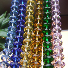 wholesale mixed color crystal glass rondelle beads for jewelry making