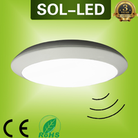 250mm 300mm 350mm 400mm IP65 LED Emergency Ceiling lamp with Motion sensor