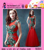 Latest Design Mermaid Fishtail Red Sexy Formal Beaded Evening Dress High Neck Floor-Length Red Sexy Formal Beaded Evening Dress
