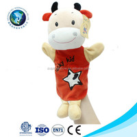 Funny custom finger puppets animal dolls plush toys popular soft stuffed cloth finger puppets