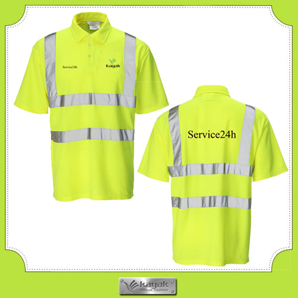 Cheap Dry Fit Polyester Reflective Uniform Safety Polo