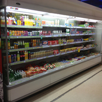 Lintee supermarket cooling wall showcase for fruit,vegetable, sausage,dairy and beverage