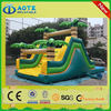 OEM branded fire truck inflatable water slide