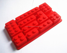 Venta al por mayor libre de BPA aprobado por la FDA de la categoría alimenticia del 10 lego silicona ladrillo moho