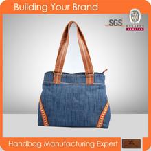 1303- Latest woman denim handbag ladies bag 2015 wholesale