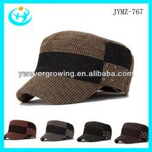 moda para hombre de moda sombrero del ejército cap remache diseño gorra militar y la tapa sombrero para los hombres