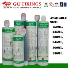 Cost effective polyester chemical anchorage glue