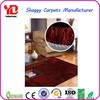 Red Cut pile Plain Silk Shaggy pictures of carpet tiles for floor