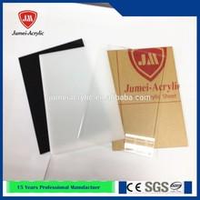 jumei venta caliente delgado y flexible y transparente plexiglás de color de acrílico hoja de plástico