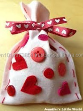 Super sale wool felt gift bags with button and bow