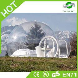 Top quality 0.55-0.9mm PVC inflatable tent,bubble tent transparent,pop up tent adult