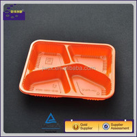 High quality orange red ivory food storage containers with lids