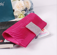 2015 New satin Chinese Red-grade women's diamond Evening bag cosmetic bag shoulder bag