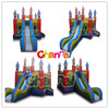 Castle slide combo,inflatable castle with slide, inflatable bouncer combo