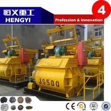 JS series horizontal concrete pan mixer for sale with double shafts matched with block making machine
