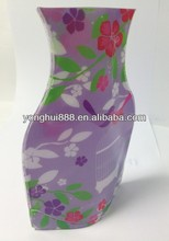 Plastic foldable vase
